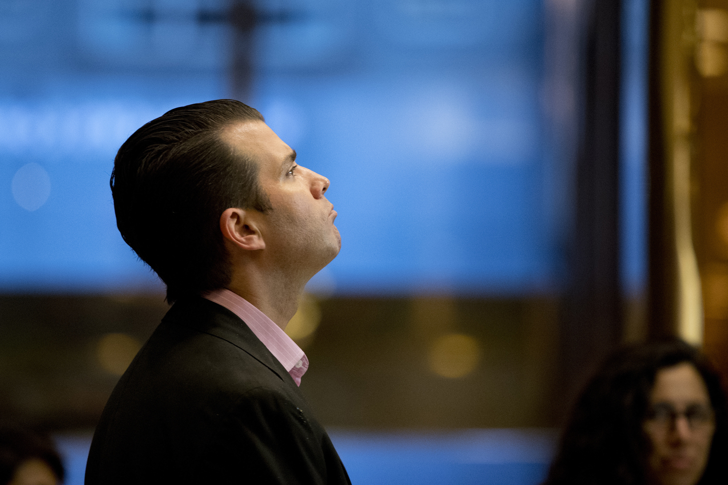 Donald Trump Jr., son of President-elect Donald Trump waits for an elevator at Trump Tower, Tuesday, Nov. 15, 2016 in New York. AP Photo/Carolyn Kaster)