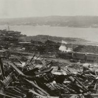 Some of the devastation in Halifax, Nova Scotia after the December 6, 1917 explosion. (Courtesy HarperCollins/Nova Scotia Archives)