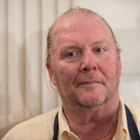 Chef Mario Batali looks on at the White House in Washington, D.C, on Oct. 17, 2016 during a preview of a state dinner. (Nicholas Kamm/AFP/Getty Images)