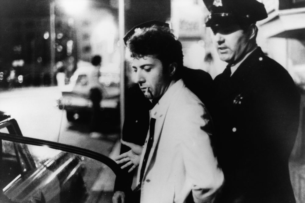 Dustin Hoffman as Lenny Bruce. (Courtesy Harvard Film Archive)