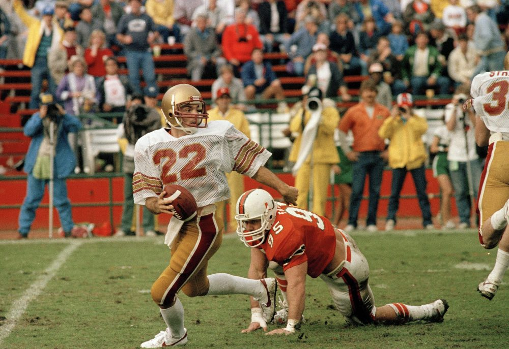 On Nov. 23, 1984, Doug Flutie completed one of the most famous passes of all time to lead Boston College past Miami. (Joe Skipper/AP)