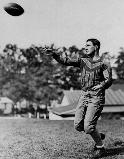 Friedman tossing a ball while playing for Brooklyn, Oct. 26, 1933. (AP)