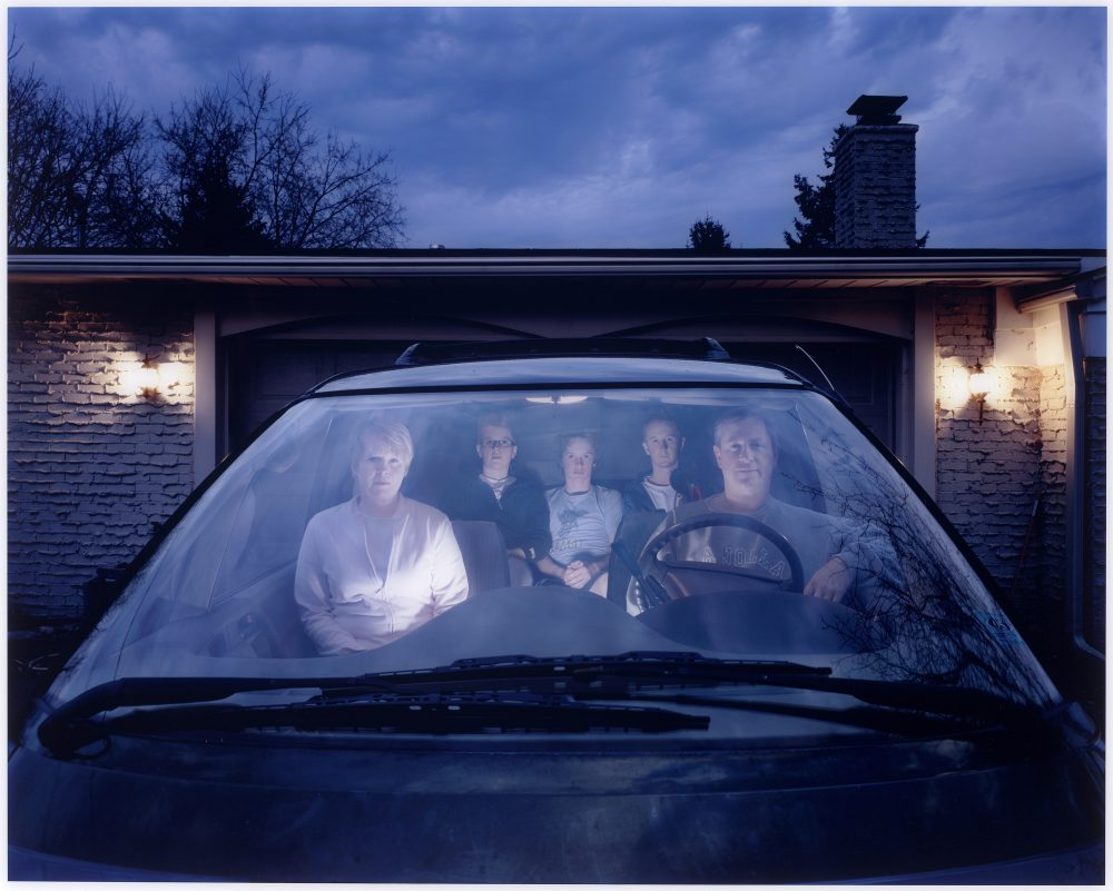Julie Mack's self-portrait with her family in an SUV in Michigan in 2007. (Courtesy Julie Mack/Laurence Miller Gallery, New York)