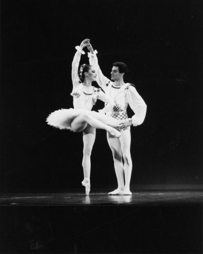 "Laura Young with Fernando Bujones in ""Esmeralda"" in 1988. (Courtesy Bernie Gardella)"