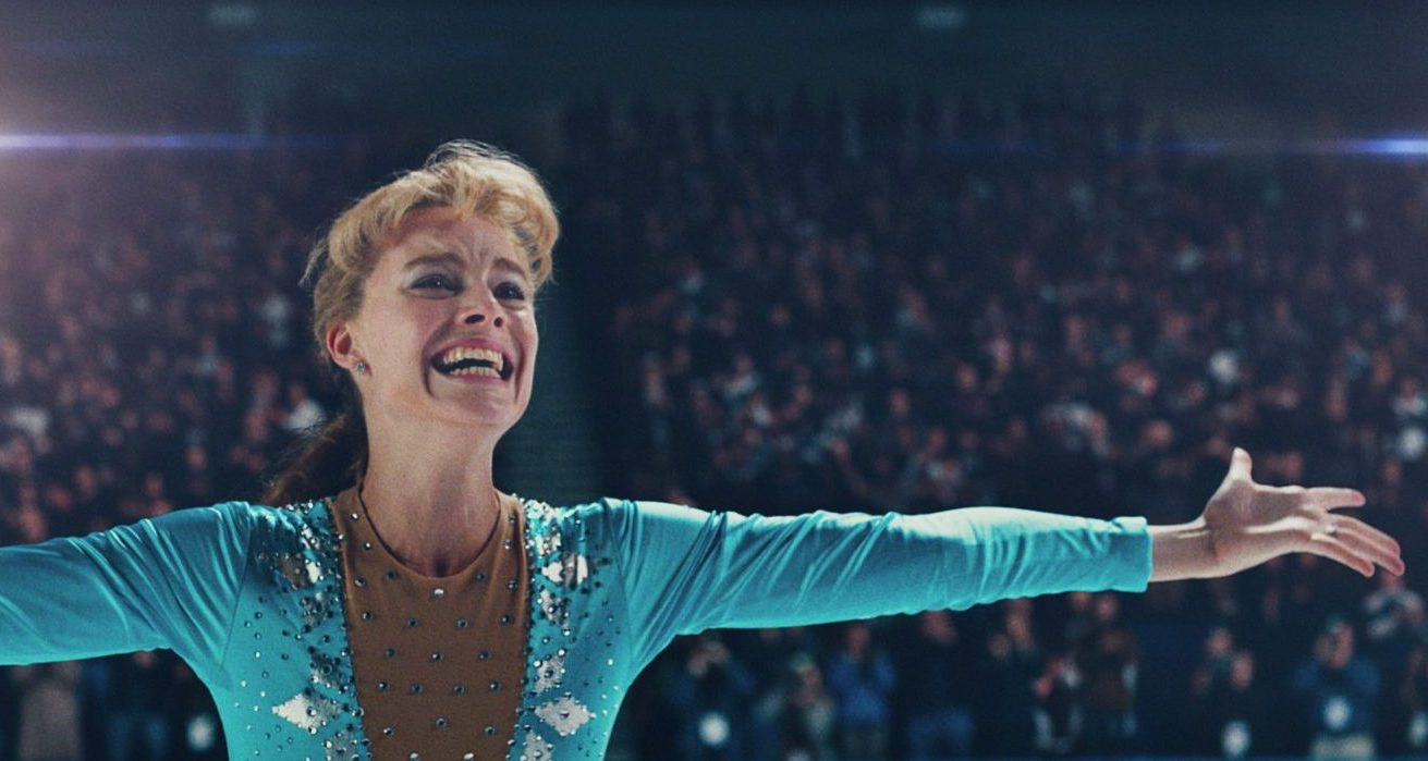 "Tonya Harding, played by Margot Robbie, lands the triple axel in ""I, Tonya."" (Courtesy NEON and 30West)"