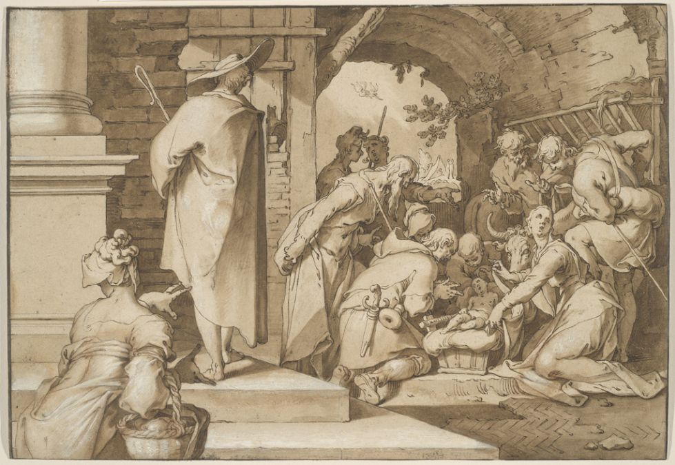 "Abraham Bloemaert's ""Adoration of the Shepherds"" from around 1595-1598. (Courtesy Maida and George Abrams Collection/Harvard Art Museums)"