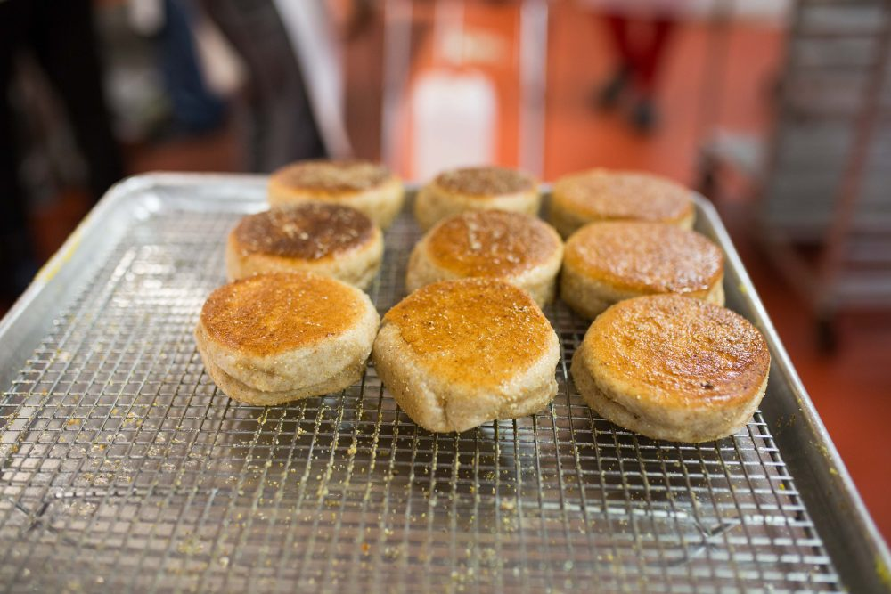 English muffins from Stone & Skillet. (Michelle K. Martin for Here & Now)
