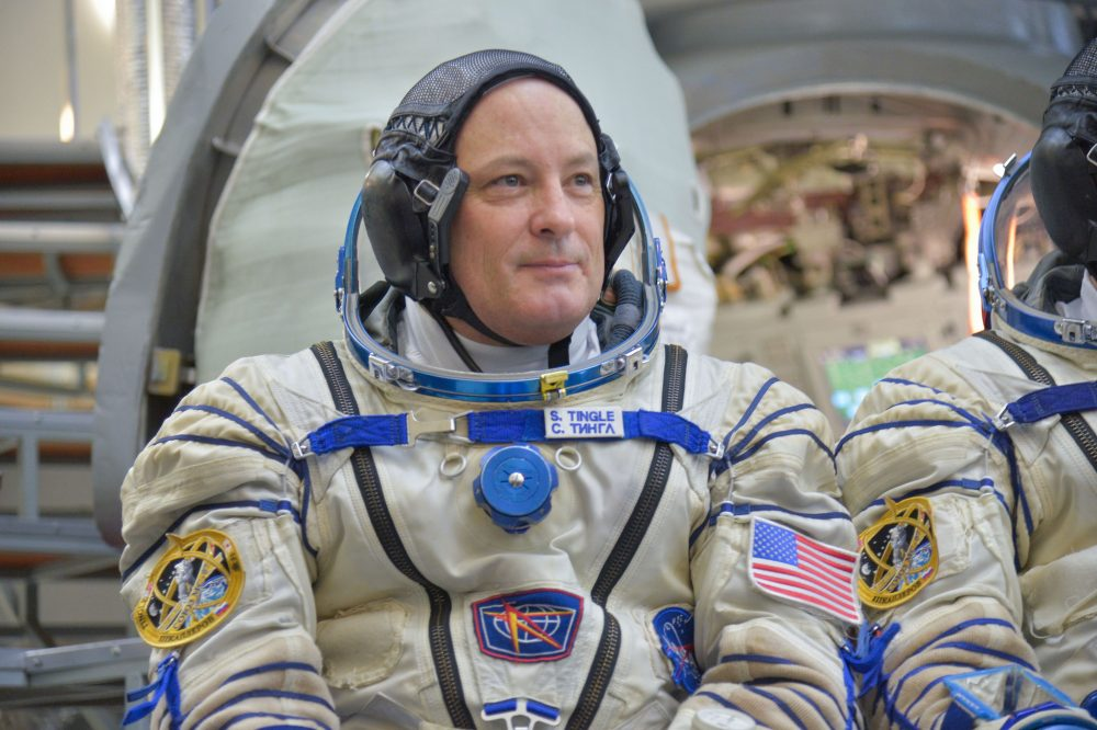 Astronaut Scott Tingle, on Nov. 29 (Courtesy Elizabeth Weissinger/NASA)