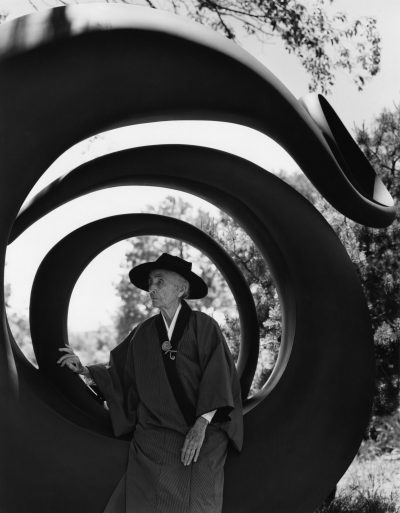 Bruce Weber's photograph of Georgia O'Keeffe in Abiquiu, New Mexico in 1984. (Courtesy Bruce Weber and Nan Bush Collection, New York)