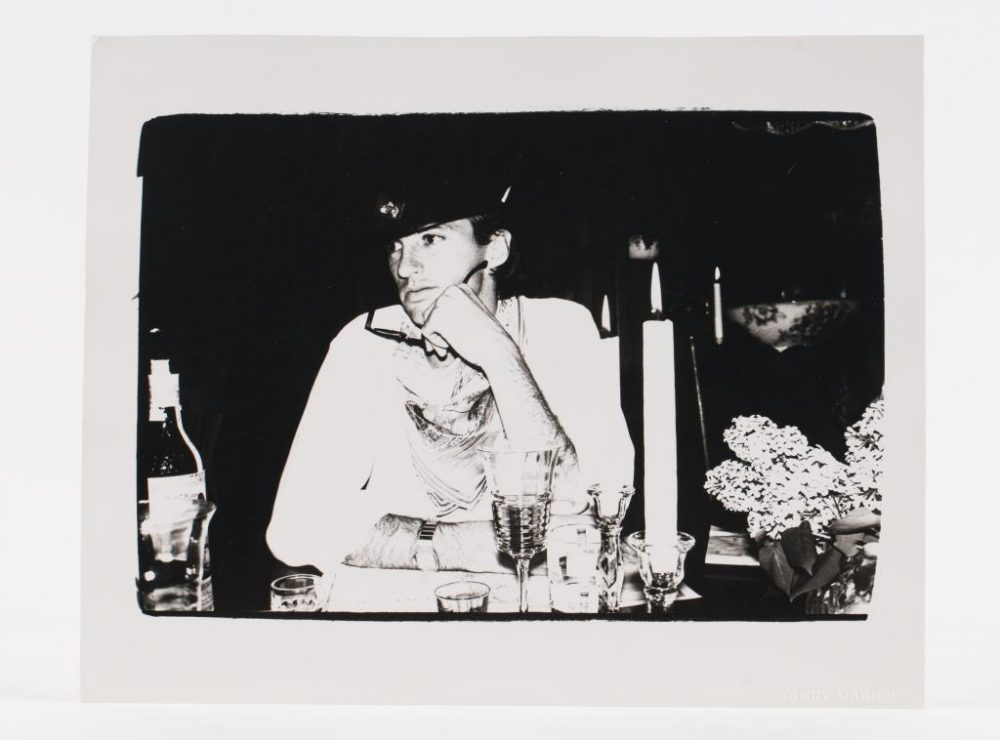 """Jon Gould at Peter Wise House East Falmouth."" Gelatin silver print, 8 x 10 inches, stamped ""Andy Warhol."" (Courtesy John McInnis Auctioneers)"