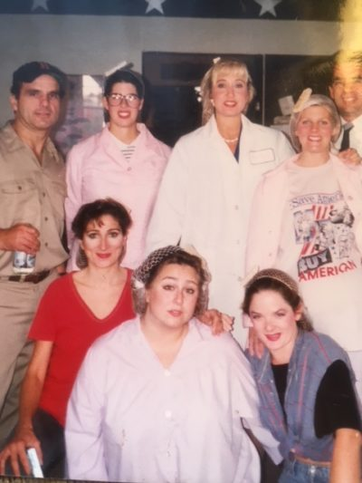 "The 1992 cast of ""North Shore Fish"" poses backstage. (Courtesy Marina Re)"