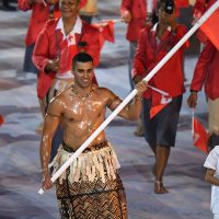 Tonga's flagbearer in the 2016 Olympic Games, Pita Taufatofua, took over the world during the opening ceremonies. (Olivier Morin/AFP/Getty Images)