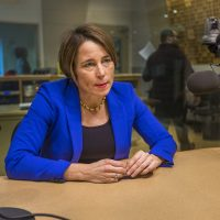 Massachusetts Attorney General Maura Healey in the WBUR studios January 18, 2018 (Jesse Costa/WBUR)