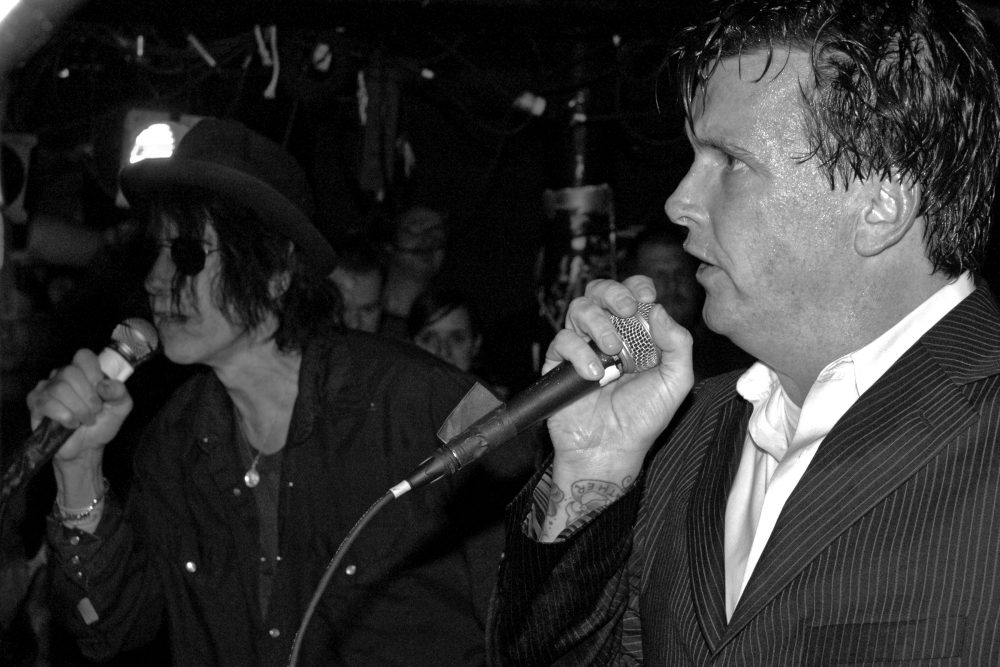 "Dicky Barrett of The Mighty Mighty Bosstones and Peter Wolf during the Bosstones' ""Hometown Throwdown"" show at The Middle East on Dec. 29, 2007. (Courtesy of Jay Hale)"