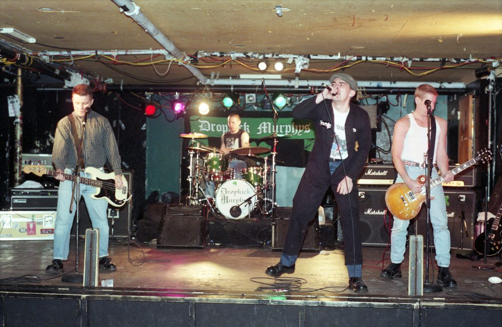 "The Dropkick Murphys during sound check of their ""Do or Die"" record release show at The Middle East on Feb. 8, 1998. (Courtesy of Jay Hale)"