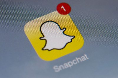 The logo of mobile app Snapchat. (Lionel Bonaventure/AFP/Getty Images)