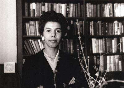 "In this January 1959 file photo, author and playwright Lorraine Hansberry poses for a photo. The author of ""A Raisin in the Sun"" will be inducted into the National Women's Hall of Fame as part of the 10-member class of 2017 on Saturday, Sept. 16, 2017 (David Attie/Getty via AP)"