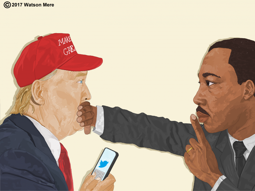 Image result for martin luther king and trump painting