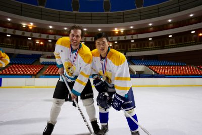 Alex Frecon traveled to North Korea to play the sport he loves, ice hockey. (Courtesy Alex Frecon)