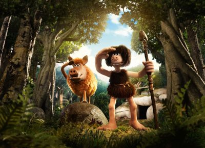 "Hognob and Dug (Eddie Redmayne) in ""Early Man."" (Courtesy of Aardman)"