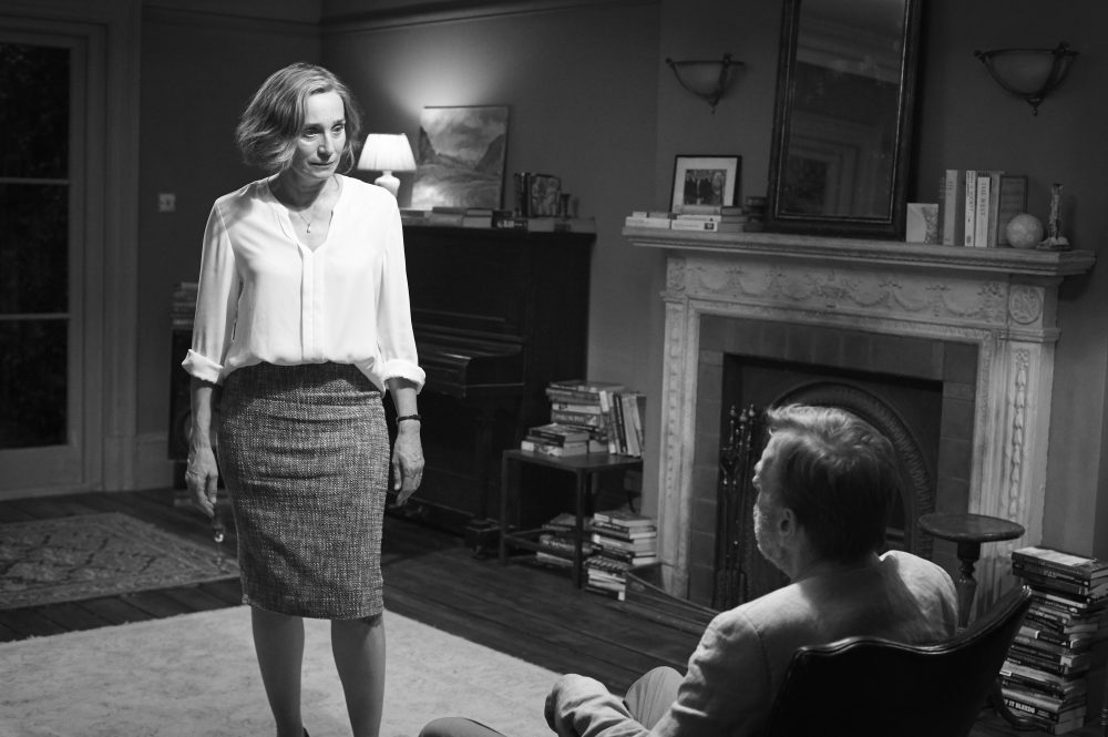 "Kristen Scott Thomas as Janet and Timothy Spall as Bill in ""The Party."" (Courtesy Nicola Dove/Roadside Attractions)"