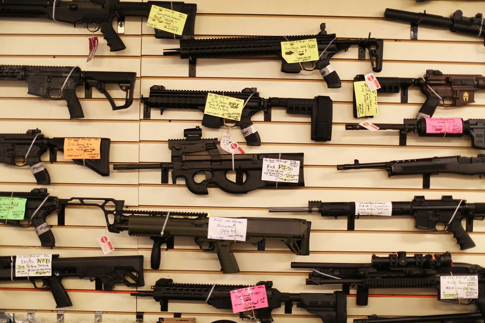 Weapons are seen on display at the K&W Gunworks store on Jan. 5, 2016 in Delray Beach, Fla. (Joe Raedle/Getty Images)