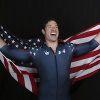 United States Olympic Winter Games bobsledder Steve Langton poses for a portrait at the 2017 Team USA Media Summit Tuesday, Sept. 26, 2017, in Park City, Utah. (Rick Bowmer/AP)