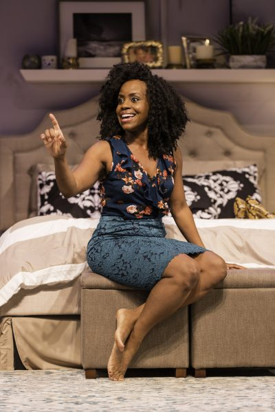 "Haneefah Wood stars in Theresa Rebeck's ""Bad Dates"" at the Huntington Theatre Company. (Courtesy of T. Charles Ericson)"
