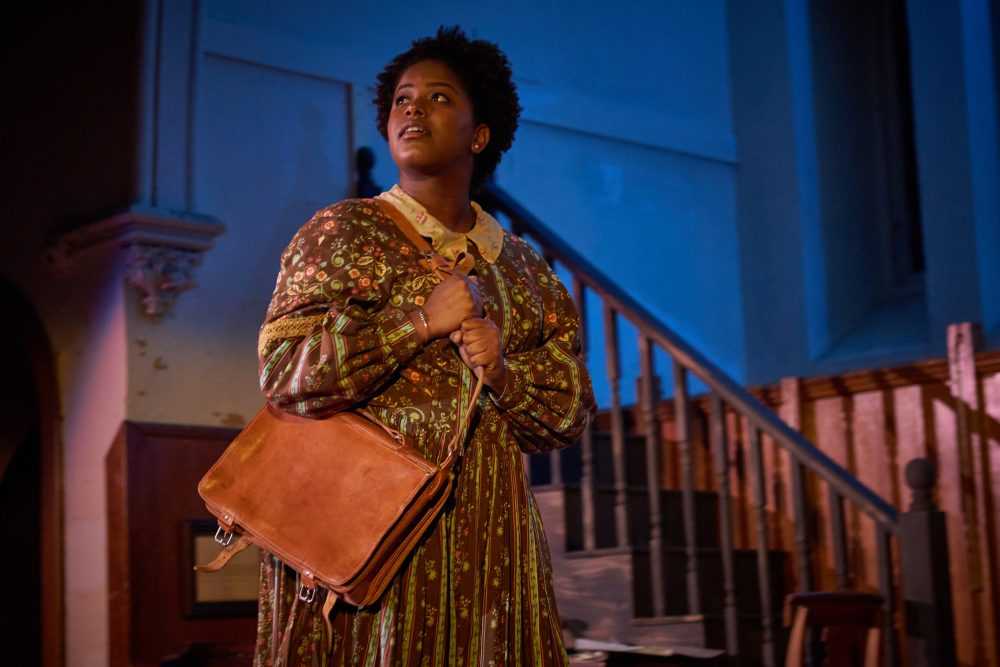 "Christa Brown as Julia Williams for the Open Theatre Project's production of ""An Education in Prudence."" (Courtesy Matt McKee Photography)"