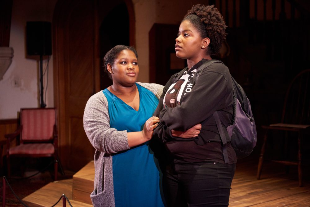 "Regine Vital (left) as Hope Williams and Christa Brown (right) as Julia Williams for the Open Theatre Project's production of ""An Education in Prudence."" (Courtesy Matt McKee Photography)"