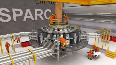 A conceptual image of the MIT SPARC experimental fusion reactor. (Courtesy Photo/MIT)