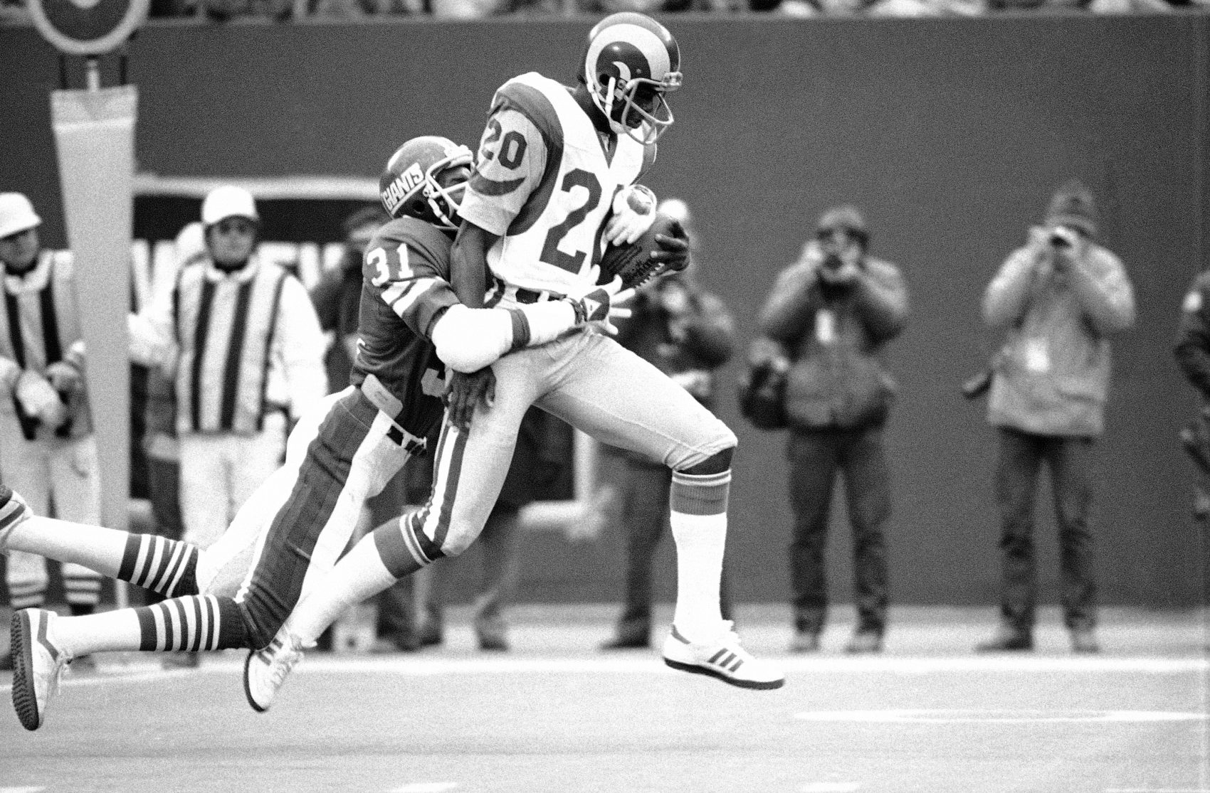 Jackie Wallace on the Los Angeles Rams in 1978. (Ray Stubblebine/AP)