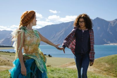 "Reese Witherspoon as Mrs. Whatsit and Storm Reid as Meg Murry in ""A Wrinkle in Time."" (Courtesy Disney)"