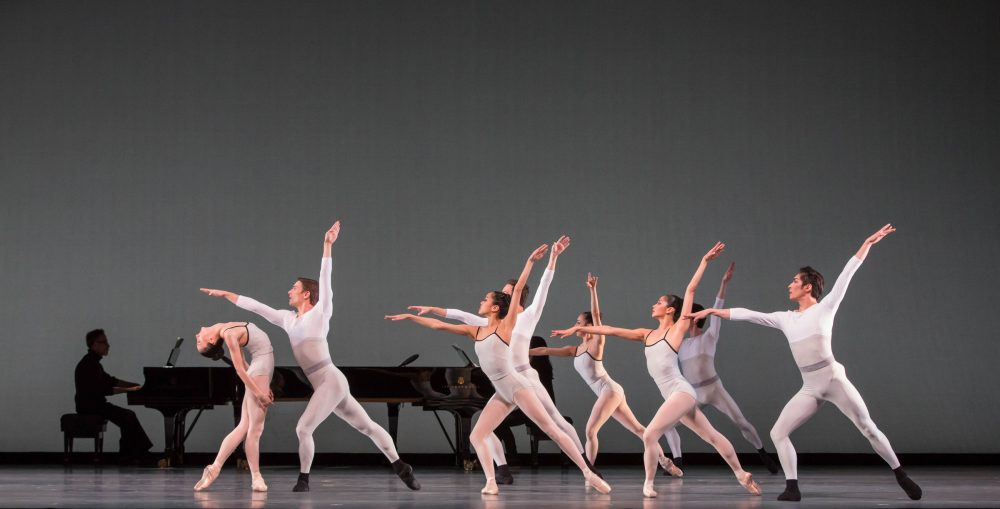 "The Joffrey Ballet in Justin Peck's ""In Creases."" (Courtesy Cheryl Mann/The Joffrey Ballet)"