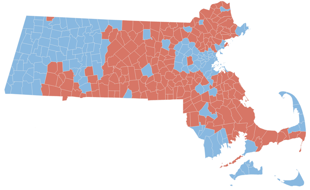 Map: How Your Mass. City Or Town Voted In Dozens Of Recent Elections ...