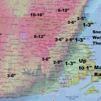 Boston will not see much snow from this next nor'easter.   (Dave Epstein/WBUR)