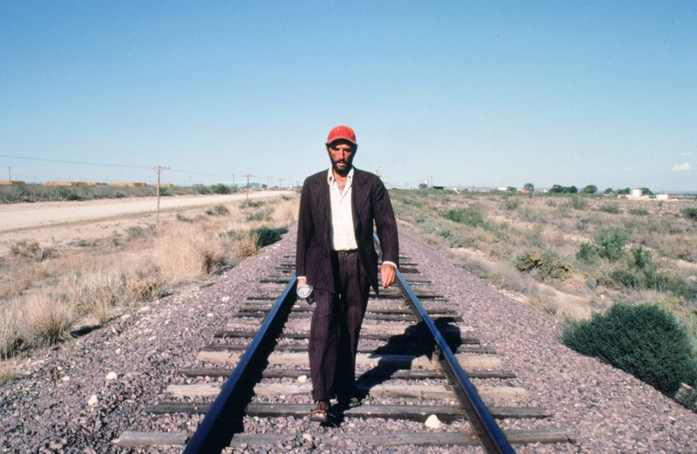 "Harry Dean Stanton in Wim Wenders' ""Paris, Texas."" (Courtesy Harvard Film Archive)"
