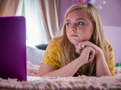 "Elsie Fisher in ""Eighth Grader."" (Courtesy Linda Kallerus/A24)"