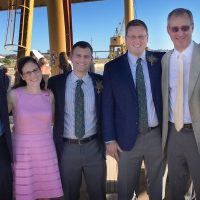 Michael Cohen (third from left) stands with his parents Carol (second from left) and Stephen (second from right) and his siblings. (Courtesy the Cohen family)
