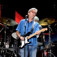 Eric Clapton, pictured here performing in 2017 in Inglewood, Calif., is one prominent musician coping with hearing loss. (Kevin Winter/Getty Images)