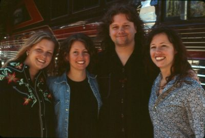Annie, Cathy, Abe and Sarah Lee Guthrie form the band The Guthrie Family. (Courtesy Henry Diltz)