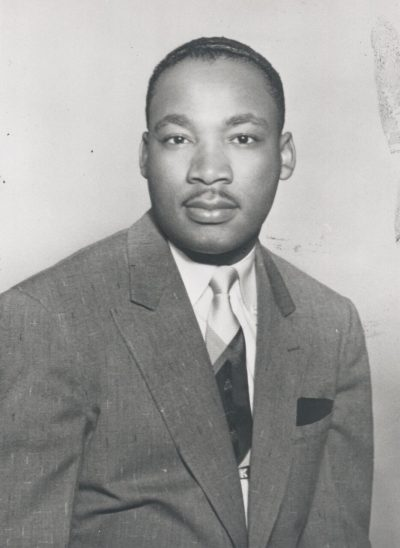 Martin Luther King Jr. in 1955 (Courtesy BU Photography)