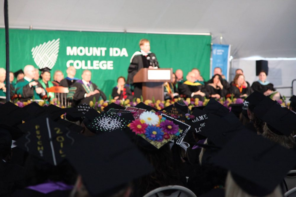 A photo from a graduation ceremony at Mount Ida College (Courtesy Mount Ida via Facebook)