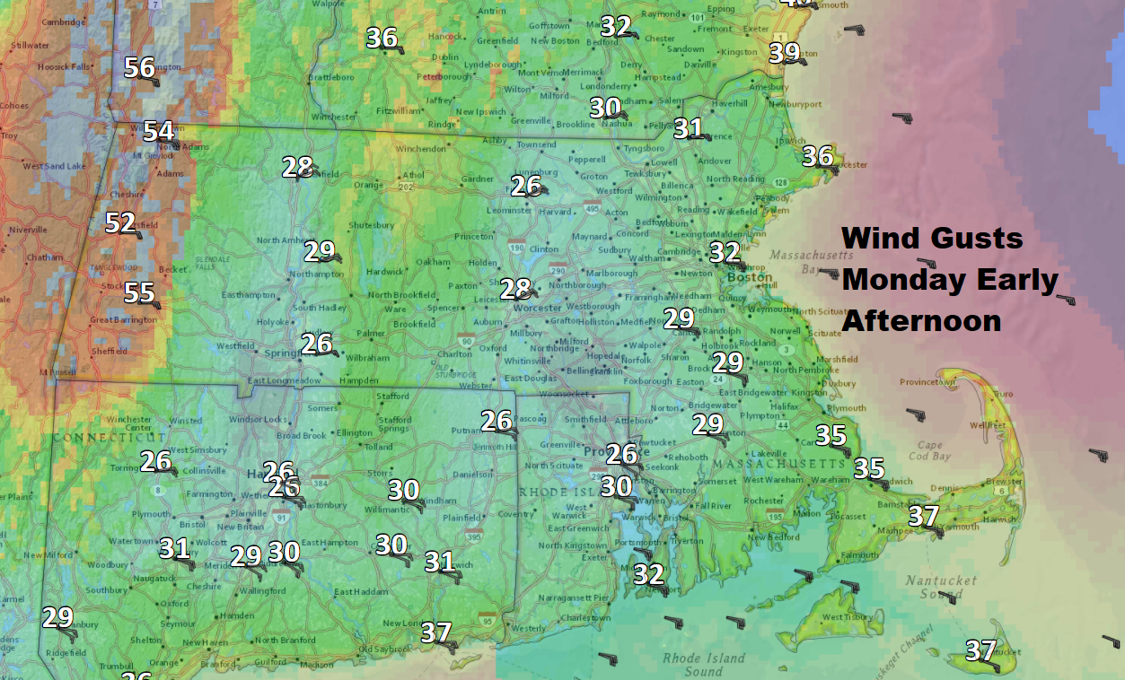 The winds will be more of a headwind or cross wind later in the day. (Dave Epstein/WBUR)