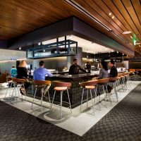 In this image released on Wednesday, May 6, 2015, the Qantas Business Lounge Extension at the Los Angeles International Airport. (Qantas Airways via AP Images)