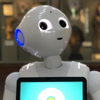 Six Smithsonian spaces have deployed the humanoid Pepper robots in an experimental program to test how robot technology can enhance visitor experiences and educational offerings. (Sarah Sulick/Smithsonian)