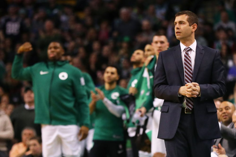 Brad Stevens did not receive a single vote from his peers for coach of the year, but he's gotten fans excited about X's and O's. (Maddie Meyer/Getty Images)