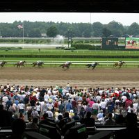"At the Saratoga Race Track, Onion -- an ""about average"" but ""kind"" horse -- challenged the great Secretariat. (Mario Tama/Getty Images)"