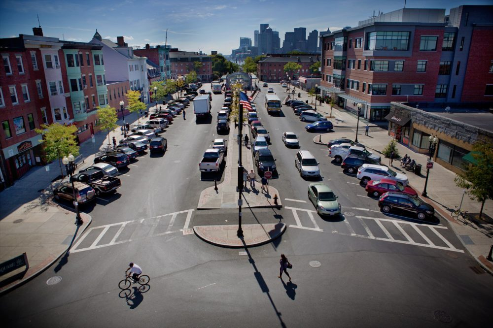 Maverick Square, in East Boston (Jesse Costa/WBUR)