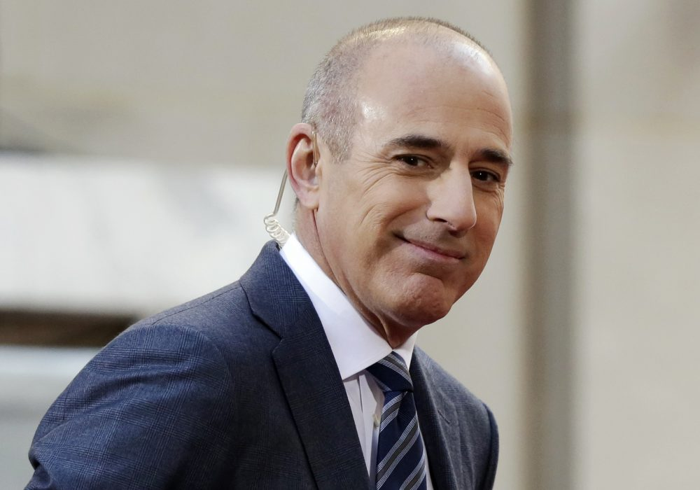 "FILE - In this April 21, 2016, file photo, Matt Lauer, co-host of the NBC ""Today"" television program, appears on set in Rockefeller Plaza, in New York. NBC News announced Wednesday, Nov. 29, 2017, that Lauer was fired for ""inappropriate sexual behavior."" (Richard Drew/AP)"